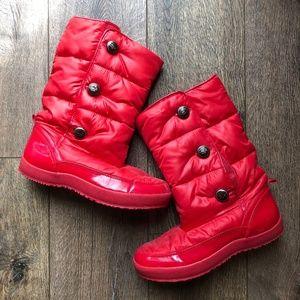 Coach Velcro Puffer Boots Size 10